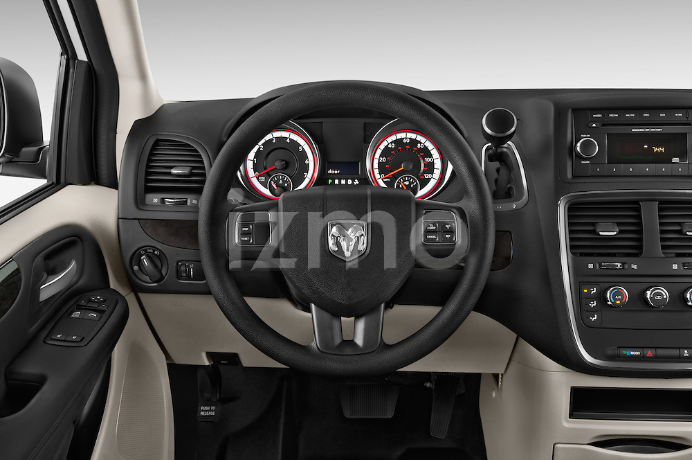 Car pictures of steering wheel view of a 2014 Ram Ram Cargo Van Tradesman 4 Door Cargo Van Steering Wheel