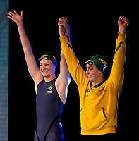 Cate Campbell and Brittany Elmslie AUS<br /> 50 freestyle women<br /> day 02  09-08-2017<br /> Energy For Swim<br /> Rome  08 -09  August 2017<br /> Stadio del Nuoto - Foro Italico<br /> Photo Deepbluemedia/Insidefoto