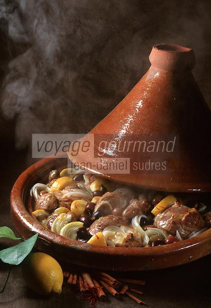 Cuisine/Maroc/Gastronomie Generale: tagine d'Agneau au citron confit
