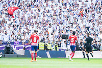 Real Madrid supporters during La Liga match between Real Madrid and Atletico de Madrid at Santiago Bernabeu Stadium in Madrid, Spain. April 08, 2018. (ALTERPHOTOS/Borja B.Hojas) /NortePhoto NORTEPHOTOMEXICO