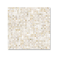 1 cm Grid shown in polished Cloud Nine is part of New Ravenna's Studio Line of ready to ship mosaics.
