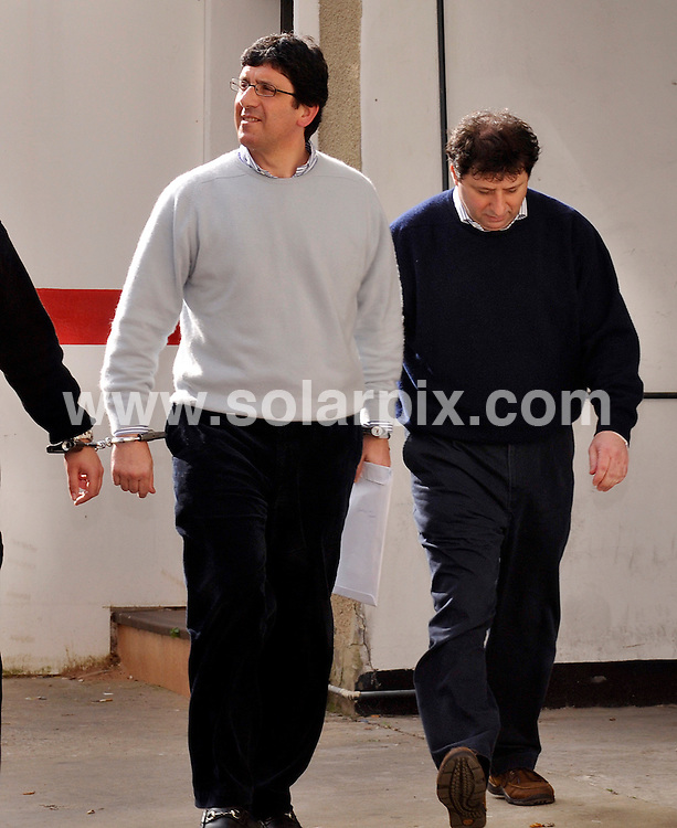 **ALL ROUND PICTURES FROM SOLARPIX.COM**.**WORLDWIDE SYNDICATION RIGHTS**.Gibraltar law firm ­Marrache & Co's founding partners have been ­rearrested and the firm's worldwide assets have been frozen amid further allegations of false accounting at the firm. Pictures show the two brothers - Solomon and Benjamin Marrache - being taken to court in Gibraltar. 23 March 2010..This pic: Solomon and Benjamin Marrache..JOB REF: 10969 LLK       DATE: 23_03_2010.**MUST CREDIT SOLARPIX.COM OR DOUBLE FEE WILL BE CHARGED**.**MUST NOTIFY SOLARPIX OF ONLINE USAGE**.**CALL US ON: +34 952 811 768 or LOW RATE FROM UK 0844 617 7637**