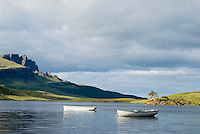 row boats on Scottish loch, Isle of Skye