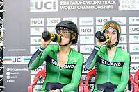 Picture by Simon Wilkinson/SWpix.com 23/03/2018 - Cycling 2018 UCI  Para-Cycling Track Cycling World Championships. Rio de Janeiro, Brazil - Barra Olympic Park Velodrome - Day 2 - Katie George DUNLEVY