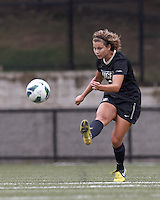 University of Central Florida forward/midfielder Kristina Trujic (6) passes the ball. After two overtime periods, Boston College tied University of Central Florida, 2-2, at Newton Campus Field, September 9, 2012.