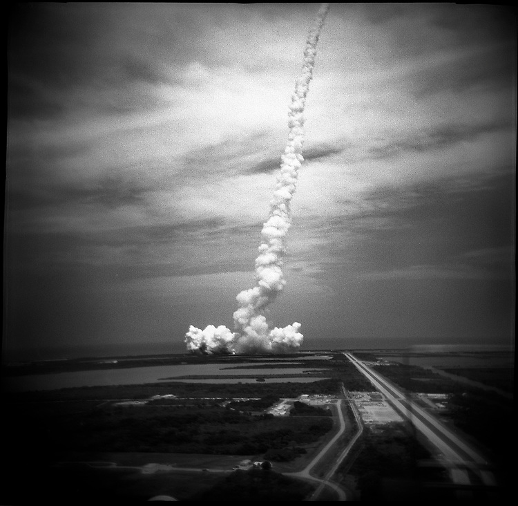 The launch of the space shuttle Atlantis, at Kennedy Space Center. Florida, USA, May 11, 2009.