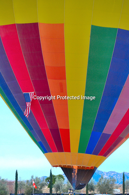 Stock photo of hot air balloons