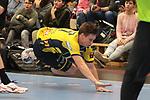 Flugeinlage von Rhein Neckar Loewe Jerry Tollbring (Nr.17)  beim Spiel in der Handball Champions League, Rhein Neckar Loewen - HBC Nantes.<br /> <br /> Foto &copy; PIX-Sportfotos *** Foto ist honorarpflichtig! *** Auf Anfrage in hoeherer Qualitaet/Aufloesung. Belegexemplar erbeten. Veroeffentlichung ausschliesslich fuer journalistisch-publizistische Zwecke. For editorial use only.