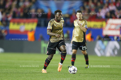 Sulley Muntari (Milan), MARCH 11, 2014 - Football / Soccer : UEFA Champions League match between Atletico de Madrid and AC Milan at the Vicente Calderon Stadium in Madrid, Spain. (Photo by AFLO) [3604]