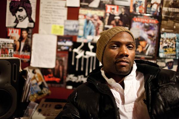 December 15, 2010. Durham, NC.. Rapper Kaze, at his home studio.