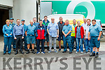 Eddie O'Reilly who retired from An Post after 50 years pictured with his co-workers on Monday.