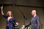 """Valerie Harper & Rob Ruggiero<br /> taking a bow at the Broadway Opening Night Curtain Call for """"Looped"""" at the Lyceum Theatre in New York City.<br /> March 14, 2010"""