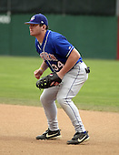 August 23, 2004:  First baseman Joey Metropoulos of the Auburn Doubledays, Short-Season Single-A affiliate of the Toronto Blue Jays, during a game at Dwyer Stadium in Batavia, NY.  Photo by:  Mike Janes/Four Seam Images