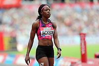 Shericka Jackson of Jamaica after competing in the womenís 400 metres during the Muller Anniversary Games at The London Stadium on 9th July 2017