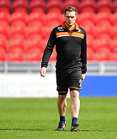 Blackpool's fitness coach Dan Birdsall during the pre-match warm-up <br /> <br /> Photographer Chris Vaughan/CameraSport<br /> <br /> The EFL Sky Bet League Two - Doncaster Rovers v Blackpool - Keepmoat Stadium - Doncaster<br /> <br /> World Copyright &copy; 2017 CameraSport. All rights reserved. 43 Linden Ave. Countesthorpe. Leicester. England. LE8 5PG - Tel: +44 (0) 116 277 4147 - admin@camerasport.com - www.camerasport.com