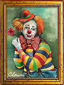 Alfredo, CHILDREN, KINDER, NIÑOS, paintings+++++,BRTOXX05713CP,#k#, EVERYDAY ,clowns