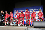 Team Katusha Alpecin presented to the crowd before the start of the 60th edition of the Record Bank E3 Harelbeke 2017, Flanders, Belgium. 24th March 2017.<br /> Picture: Eoin Clarke | Cyclefile<br /> <br /> <br /> All photos usage must carry mandatory copyright credit (&copy; Cyclefile | Eoin Clarke)