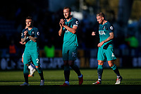 Harry Kane of Tottenham Hotspur and Kieran Trippier of Tottenham Hotspur applaud their fans after the Premier League match between Huddersfield Town and Tottenham Hotspur at John Smith's Stadium on September 29th 2018 in Huddersfield, England. (Photo by Daniel Chesterton/phcimages.com)<br /> 29-09-2018 Premier League <br /> Huddersfield - Tottenham <br /> Foto PHC Images / Panoramic / Insidefoto <br /> ITALY ONLY