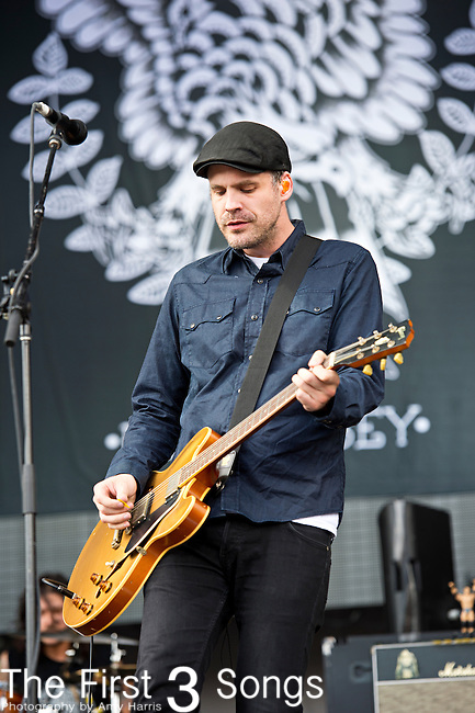 Ian Perkins of The Gaslight Anthem performs during the 2013 Budweiser Made in America Festival in Philadelphia, Pennsylvania.