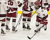 Miye D'Oench (Harvard - 19) announced as a Crimson starter. - The visiting Boston College Eagles defeated the Harvard University Crimson 2-0 on Tuesday, January 19, 2016, at Bright-Landry Hockey Center in Boston, Massachusetts.