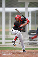Noah Naylor (32) of the Canada Junior National Team at bat during an exhibition game against a Boston Red Sox minor league team on March 31, 2017 at JetBlue Park in Fort Myers, Florida.  (Mike Janes/Four Seam Images)