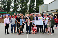 Cheque presentation from a supporters group called the Mattadors<br /> <br /> Photographer Chris Vaughan/CameraSport<br /> <br /> The EFL Sky Bet League One - Lincoln City v Fleetwood Town - Saturday 31st August 2019 - Sincil Bank - Lincoln<br /> <br /> World Copyright © 2019 CameraSport. All rights reserved. 43 Linden Ave. Countesthorpe. Leicester. England. LE8 5PG - Tel: +44 (0) 116 277 4147 - admin@camerasport.com - www.camerasport.com