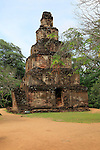 Satmahal Prasada building, The Quadrangle, UNESCO World Heritage Site, the ancient city of Polonnaruwa, Sri Lanka, Asia