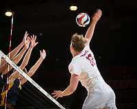 STANFORD, CA - January 17, 2019: Jordan Ewert at Maples Pavilion. The Stanford Cardinal defeated UC Irvine 27-25, 17-25, 25-22, and 27-25.