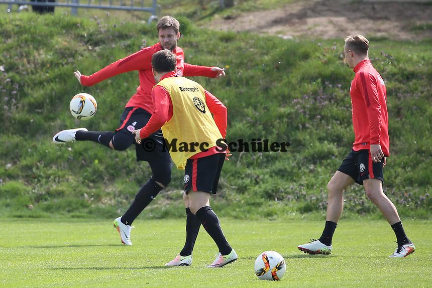 Marc Stendera und Marco Russ - Eintracht Frankfurt Training, Commerzbank Arena
