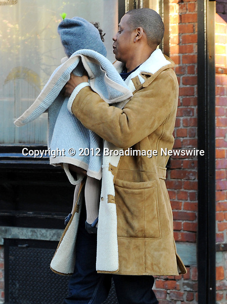 Pictured: Beyonce Knowles, Jay Z, Blue Ivy<br /> Mandatory Credit &copy; Jayme Oak/Broadimage<br /> Jay Z and wife Beyonce Knowles take their precious cargo baby Blue Ivy to lunch in a restaurant in Brooklyn in New York City<br /> <br /> 1/20/14, New York, New York, United States of America<br /> <br /> Broadimage Newswire<br /> Los Angeles 1+  (310) 301-1027<br /> New York      1+  (646) 827-9134<br /> sales@broadimage.com<br /> http://www.broadimage.com<br /> <br /> <br /> Pictured: Beyonce Knowles, Jay Z, Blue Ivy<br /> Mandatory Credit &copy; Jayme Oak/Broadimage<br /> Jay Z and wife Beyonce Knowles take their precious cargo baby Blue Ivy to lunch in a restaurant in Brooklyn in New York City<br /> <br /> 1/20/14, New York, New York, United States of America<br /> Reference: 011914_JKNY_BDG_025<br /> <br /> Broadimage Newswire<br /> Los Angeles 1+  (310) 301-1027<br /> New York      1+  (646) 827-9134<br /> sales@broadimage.com<br /> http://www.broadimage.com