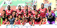 IBAGUÉ -COLOMBIA, 24-06-2015. Jugadores del Deportes Tolima posan para una foto previo al encuentro con Atlético Huila por la fecha 10 de la Liga Aguila II 2016 jugado en el estadio Manuel Murillo Toro de la ciudad de Ibagué. / Players of Deportes Tolima pose to a photo prior a match against Atletico Huila for the date 10 of the Aguila League II 2016 played at Manuel Murillo Toro stadium in Ibague city. Photo: VizzorImage / Juan Carlos Escobar / Str
