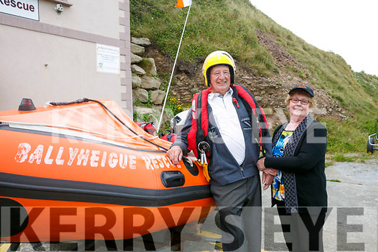 Ballyheigue Inshore Rescue Open Day at the Boathouse on Dromature Pier on Sunday Pictured James and Bridie Enright