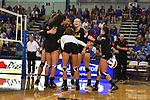 KANSAS CITY, MO - SEPTEMBER 2:  The Maryland women's volleyball team takes on the Kansas Jayhawks at the Horejsi Family Athletic Center on Septemeber 2, 2016 in Lawrence Kansas. ( Photo by Jason Hanna )