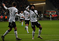 celebrate the goal, Torjubel zum 2:1 von Serge Gnabry (Deutschland Germany) - 19.11.2019: Deutschland vs. Nordirland, Commerzbank Arena Frankfurt, EM-Qualifikation DISCLAIMER: DFB regulations prohibit any use of photographs as image sequences and/or quasi-video.