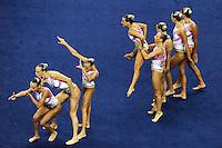 ITALY - ITALIA.Elisa BOZZO, Beatrice CALLEGARI, Camilla CATTANEO, Costanza FIORENTINI, Manila FLAMINI, Mariangela PERRUPATO, Benedetta RE, Sara SGARZI.Technical Teams Synchro - Sincronizzato.Shanghai 19/7/2011 .14th FINA World Championships.Foto Andrea Staccioli Insidefoto.Technical Teams Synchro - Sincronizzato.Shanghai 19/7/2011 .14th FINA World Championships.Foto Andrea Staccioli Insidefoto