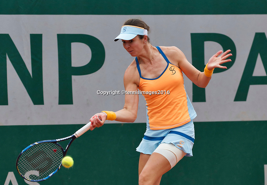 Paris, France, 29 June, 2016, Tennis, Roland Garros, Galina Voskoboeva (KAZ)<br /> Photo: Henk Koster/tennisimages.com