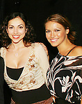 "AMC's Eden Riegel ""Bianca Montgomery"" and Chrishell Stause ""Amanda Dillon"" attend the play My Life As You, a new romantic comedy, on September 15, 2006 at the Producers Club II, NYC. (Photo by Sue Coflin/Max Photos)"
