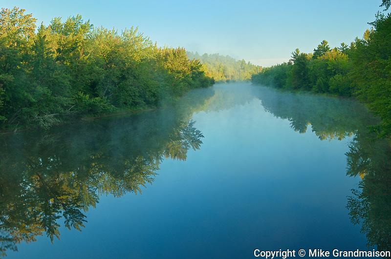 Whanapitae River at sunrise, Killarney District, Ontario, Canada