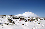 Snow capped Mount Teide, Tenerife, Canary Islands.