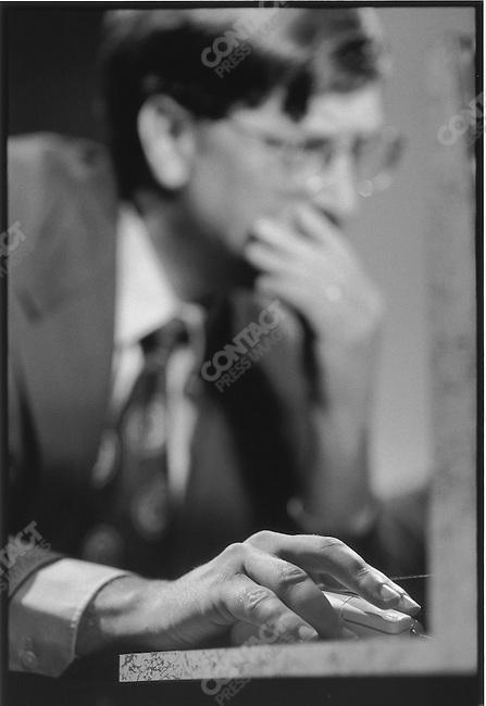 Bill Gates online. Johannesburg, South Africa, March 1997.