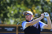 Matthew Southgate (ENG) tees off the 8th tee during Saturday's Round 3 of the 2018 Omega European Masters, held at the Golf Club Crans-Sur-Sierre, Crans Montana, Switzerland. 8th September 2018.<br /> Picture: Eoin Clarke | Golffile<br /> <br /> <br /> All photos usage must carry mandatory copyright credit (&copy; Golffile | Eoin Clarke)