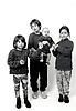 Group of children UK 1990s