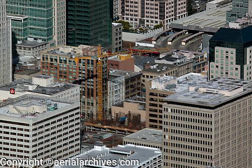 aerial photograph construction San Francisco, California