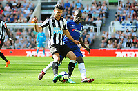 Ayoze Perez of Newcastle United battles with Tiemoue Bakayoko of Chelsea during Newcastle United vs Chelsea, Premier League Football at St. James' Park on 13th May 2018