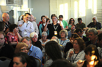 Labour Party Annual Conference<br /> Brighton<br /> 27-30 September<br /> Fringe meeting, 'Austerity and the Alternative: Where next for the left?' organised by CLASS, the Centre for Labour Studies.<br /> A member of the audience puts a question to the panel.