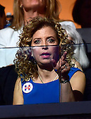 Debbie Wasserman Schultz attends the fourth session of the 2016 Democratic National Convention at the Wells Fargo Center in Philadelphia, Pennsylvania on Thursday, July 28, 2016.<br /> Credit: Ron Sachs / CNP<br /> (RESTRICTION: NO New York or New Jersey Newspapers or newspapers within a 75 mile radius of New York City)