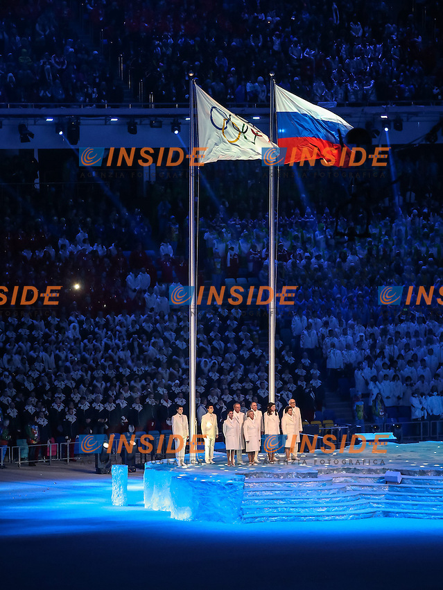 07.02.2014, Olympiastadion Fischt, Adlerer<br /> Cerimonia Inaugurale Apertura <br /> Sochi 2014 Olimpiadi Invernali. Olympic Winter Games <br /> Foto EXPA/ Insidefoto