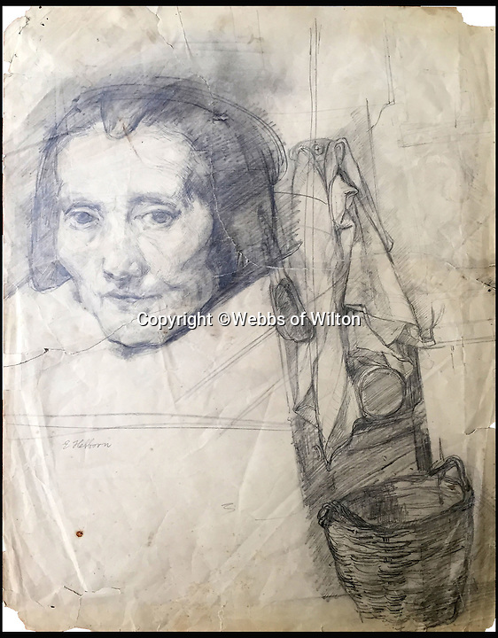 BNPS.co.uk (01202 558833)<br /> Pic: WebbsOfWilton/BNPS<br /> <br /> A drawing 'After' Rembrant.<br /> <br /> Drawings and paintings by one of the world's most colourful and notorious art forgers, including a sketch that duped a top auctionhouse, are up for sale.<br /> <br /> Master forger Eric Hebborn fooled art dealers, galleries and auction houses worldwide with his work in the style of old masters, and many of his works which were sold as originals still hang in museums and galleries.<br /> <br /> Hugely talented Hebborn could mimic the style's of many of the world's most famous artist's, and the auction contains works 'After' Michelangelo, Rembrandt, Claude, Augustus John and Bandinelli.<br /> <br /> His paintings are being auctioned by Webbs of Wilton in Wiltshire on Wednesday, as well as manuscripts and books on the art of forging.