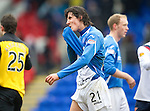 St Johnstone v Rangers...14.01.12  .Fran Sandaza at full time.Picture by Graeme Hart..Copyright Perthshire Picture Agency.Tel: 01738 623350  Mobile: 07990 594431