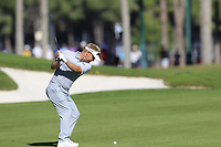 Soren Kjeldsen (DEN) plays his 2nd shot on the 9th hole during Saturday's Round 3 of the 2018 Turkish Airlines Open hosted by Regnum Carya Golf &amp; Spa Resort, Antalya, Turkey. 3rd November 2018.<br /> Picture: Eoin Clarke | Golffile<br /> <br /> <br /> All photos usage must carry mandatory copyright credit (&copy; Golffile | Eoin Clarke)